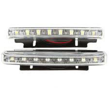 0.64W/12V 6500K 86-Lumen 8-LED White Light Daytime Running Lamps