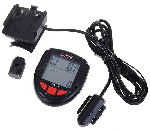 "1.4"" LCD Electronic Bicycle Computer/Speedometer (YT-816)"