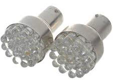 1156 1W/12V 6500K 85-Lumen 19-LED Car White Light Bulbs (Sepasan