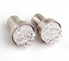 12V 12-LED Car Brake Signal Light Bulbs - White (Sepasang)