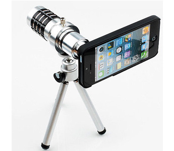 12x Optical Zoom Telescope Camera Lens with Tripod For Phone iPhone 5G 5