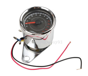 13000 RPM Scooter Motorcycle Analog Tachometer Gauge Night Light Motorcycle Instruments Scooter Speed Indicator BHU2