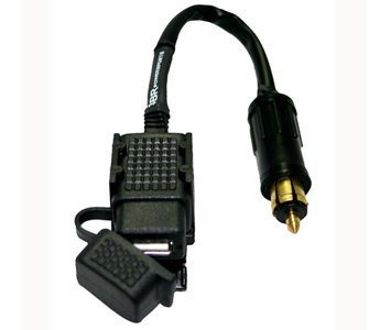 3BR Powersports TAPP Lite USB Power Port to BMW Plug with Mounting Saddle 6 inch