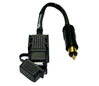 3BR Powersports TAPP Lite USB Power Port to BMW Plug with Mounting Saddle 12 inch