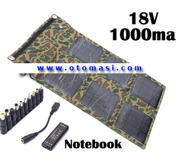 18W Solar Power Charger for Notebook, Output: 18V 1000mA