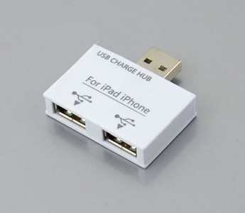 2 Ports USB 2.0 Charge HUB for Apple iPhone iPad Tablet PC MP3 MP4 GPS PSP DC 5V