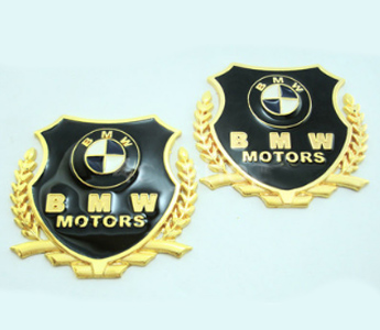 2 pcs Bmw Logo Badge Emblem Deal Sticker fit all Bmw car Z3 Z4 X3 3 5 7 SERIES