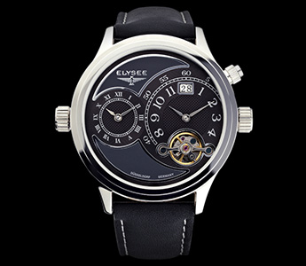 2012 Elysee Germany Dual-Time Automatic-KÖ1-A unique Name for A Unique Watch (Black)