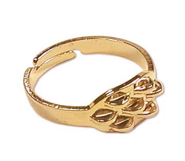 22K Gold Plated Seven-Loop Beading Rings Adjustable (4)