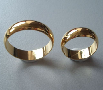 24K GP Gold Plated Plain Ring 4 -10.25 For Toe/Finger Multi Sizes