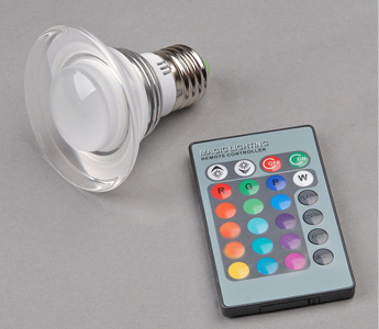 3W E27 RGB LED 16 Colors Crystal Light Ceiling Spot Bulb + Remote Controller