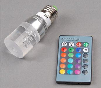 3W E27 RGB LED 16 Colors Remote Control Crystal Column Lights Ceiling Spot Bulbs
