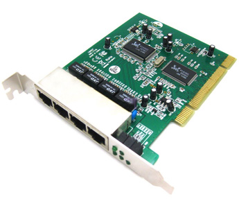 4 Port PCI 100M 10/100 Mbps Fast Ethernet Network LAN Switch Card Board