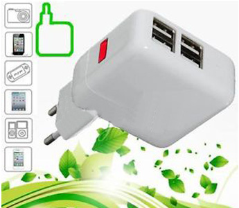 4 USB Ports EU Plug Wall AC Power Charger Adapter For iPhone 5S/5/4S iPad