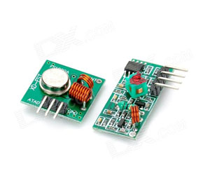 433Mhz RF Transmitter Module + Receiver Module Link Kit for Arduino / ARM /MCU WL - Green