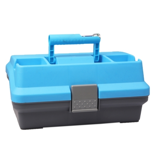 Multifunction Fishing Tackle Box With Lighted Lid (Blue)