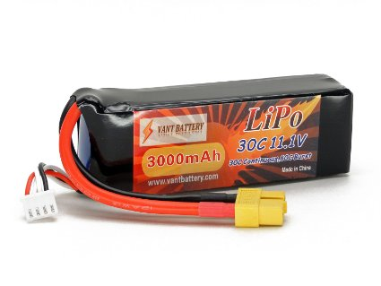 11.1V 3000mAh 30C LiPo Battery Pack XT60 DJI Phantom 1 Vision CX-20