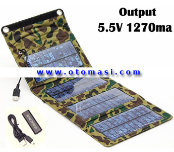 7W Solar Power Charger, Output 5.5V 1270mA (7W-S)