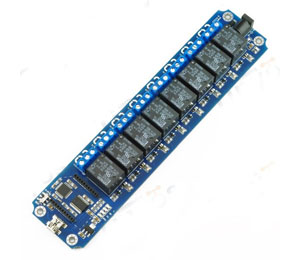 8 Channel USB/Wireless(Xbee,Bluetooth,WIFI )mobile phone control Relay Module