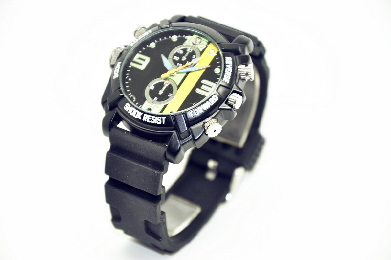 1080P Spy Camera Watch infrared light sensation nightvision 4 led 36 hours 16GB