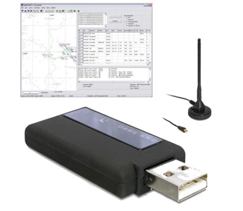 ADS-B Flugfunk-Receiver USB-Stick incl. Logger-Software