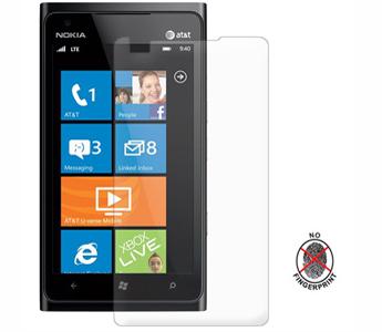 Amzer Anti-Glare Screen Protector with Cleaning Cloth For Nokia Lumia 900