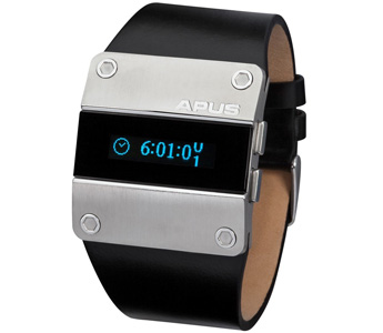 APUS Alpha Dark Force OLED Watch for Him Second Time Zone