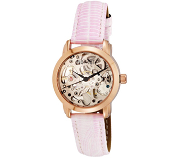 August Steiner AS8033RG Skeleton Automatic Strap Womens Watch