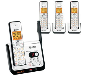 AT&T DECT 6.0 Black/Silver Digital 4-Handset Answering System (C