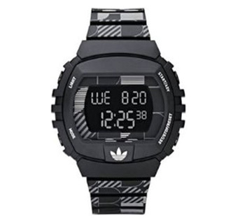 Adidas Unisex Black Patterned Poly Bracelet Watch ADH6104