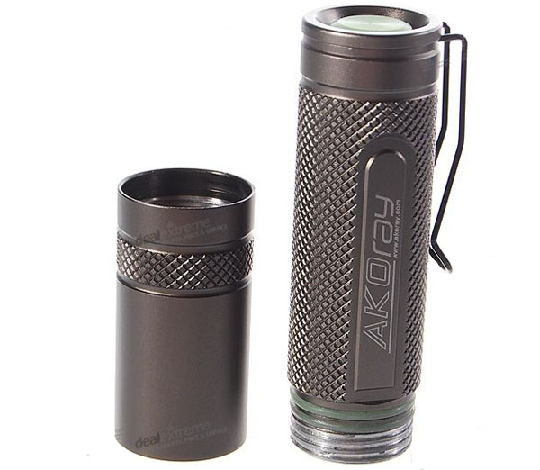 Akoray K-106 Cree Q5-WC 5-Mode 230-Lumen Memory LED Flashlight (