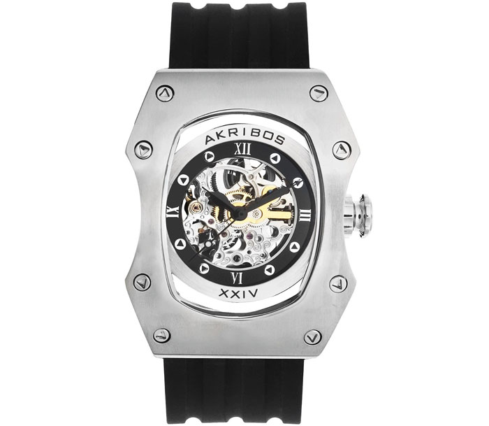 Akribos XXIV Men's AKW9672DSL 'Gladiator' Automatic Stainless St