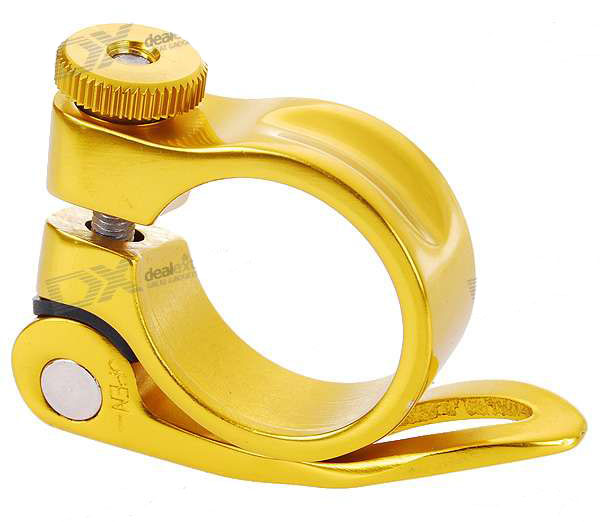 Aluminium Alloy Bicycle Seat Post Clamp - Golden (30.8mm Inner D