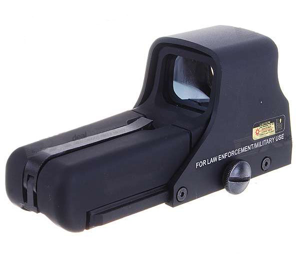Aluminum Alloy Laser Sight Rifle Scope with Gun Mount (Red/Green
