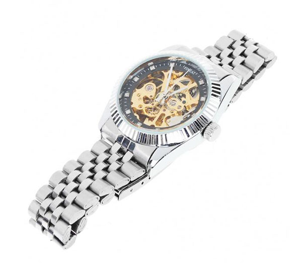 Aluminum Zinc Plated Self-Winding Mechanical Wristwatch