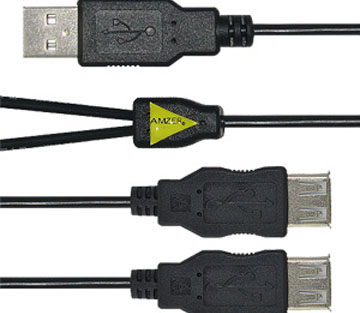 Amzer Handy USB to Dual USB Splitter Charge Cable