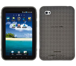 Amzer Luxe Argyle High Gloss TPU Soft Gel Skin Case for Samsung Galaxy Tab GT-P1000(Smoke Grey)
