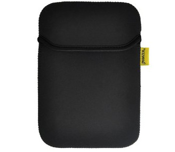 Amzer Neoprene Sleeve 7.5 Inches Case Cover with Pocket for Samsung GALAXY Tab GT-P1000 (Matt Black/ Leaf Green)