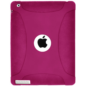 Amzer Silicone Skin Jelly Case for Apple iPad 2 (Hot Pink)