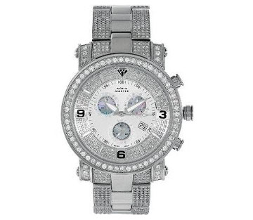 Aqua Master Power One-Row Diamond Watch with Four-Link Outer Dia