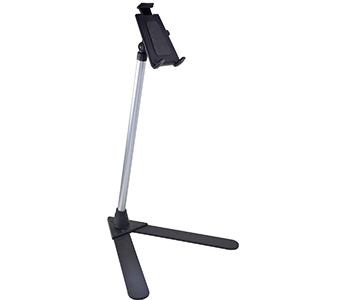 Arkon Tablet Stand - 4' Adjustable Aluminum Shaft with V-Base PODIUM or STAND or Tablets (TAB003 + STAND100)
