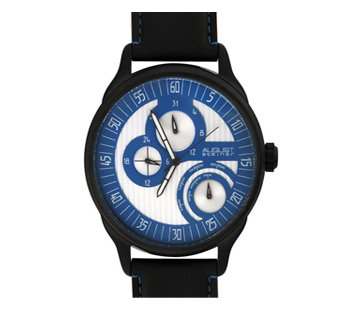 August Steiner AS8006BU Stainless Steel Multifunction Blue Mens Watch