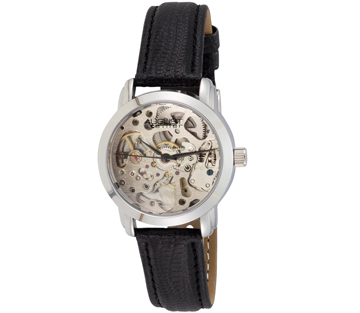 August Steiner AS8033SS Skeleton Automatic Strap Womens Watch