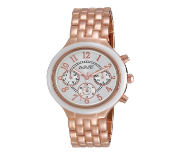 August Steiner AS8039RG Swiss Multifunction Ceramic Womens Watch