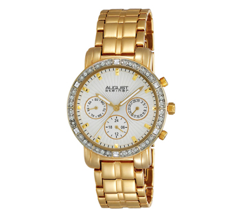 August Steiner AS8041YG Crystal Multifunction Bracelet Womens Watch