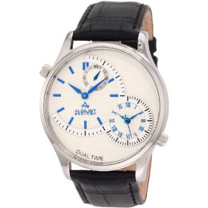 August Steiner ASA810BU Stainless Steel Dual Time Watch