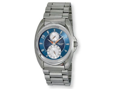 Bellagio Mens All Stainless Steel Multi-Function Sub-Dial Day/Da