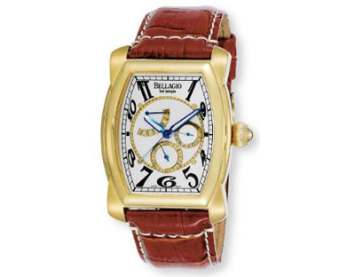 Bellagio Men's Stainless Steel Tonneau Two-Tone Day/Date/24 Hour