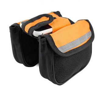 Bike Bicycle Cycling Front Tube Bag Frame Double Pannier Package Pouch