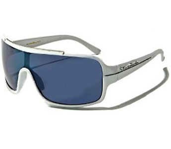 New BioHazard Optics Modern Aviator Style Mens Sunglasses White With Smoke Lens